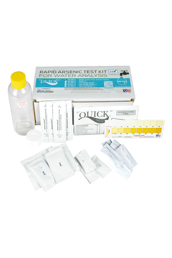 Quick™ Arsenic Mini for Water, Soil, and Wood Test Kit (5 tests)