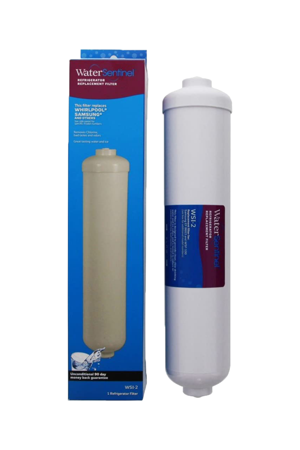 WSI-2 WaterSentinel Refrigerator Replacement Filter: Fits Samsung/Whirlpool WS100 inline filter