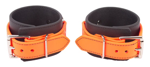 Orange ankle rubber cuffs