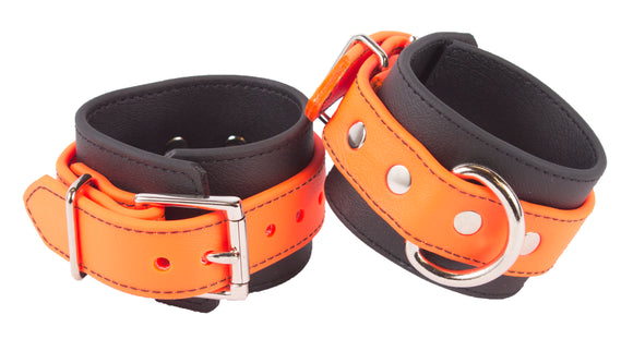 Rubber Orange Wrist Cuffs