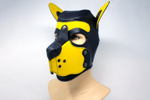 Puppy Leather Hood - Yellow