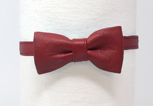 LEATHER BOWTIE - RED