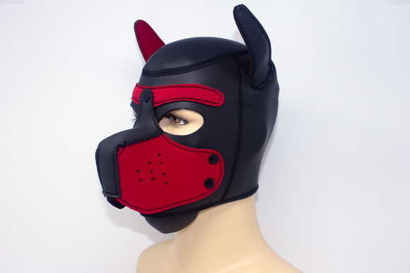 Puppy Neoprene Hood Red