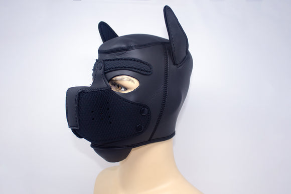 Puppy Neoprene Hood Black