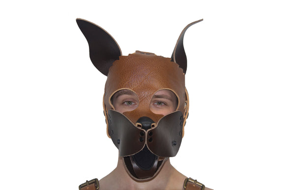 Puppy Leather Hood -
