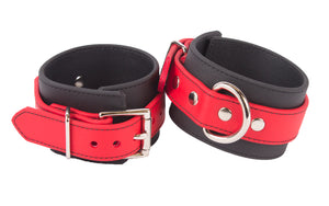 RUBBER RED ANKLE CUFFS