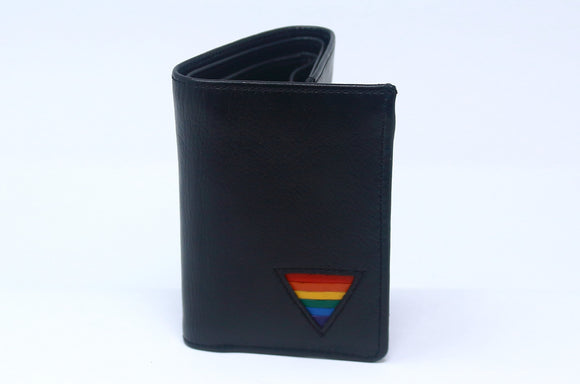 TRI-FOLD WALLET - RAINBOW TRIANGLE ( WITH SNAPS )