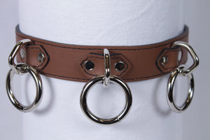 3 Ring Brown Collar