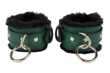 FUR GREEN WRIST CUFFS