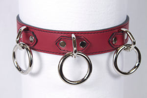 3 Ring Red Collar
