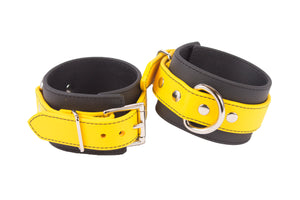 RUBBER YELLOW ANKLE CUFFS