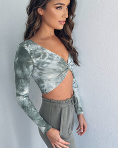 The Kelly Knot Front Crop Top