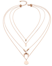Load image into Gallery viewer, Crescent Layered Necklace