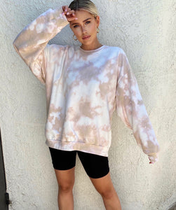 Nude/White Oversized Sweatshirt