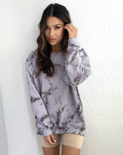 Load image into Gallery viewer, Marble Grey Washed Oversized Sweater
