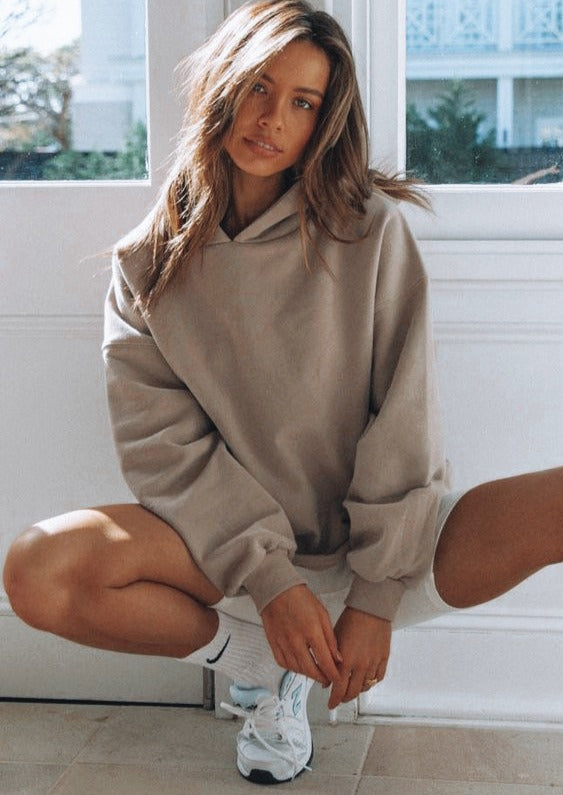 The Staple Oversized Nude Hoodie