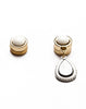 Gold Ivory Pearl Asymetrie Earrings