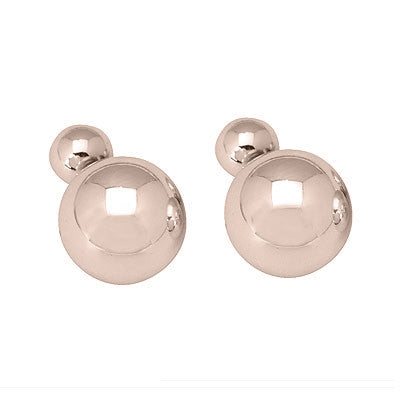 Double Gold Ball Stud Earring
