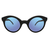 Whitechapel Matte Black with Blue Mirrored Lenses