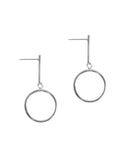 Circle Drop Short Earrings
