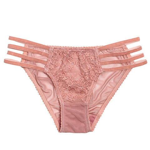 Rose Lulu Strap Brief