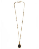 Gold Hematite Larmes Necklace