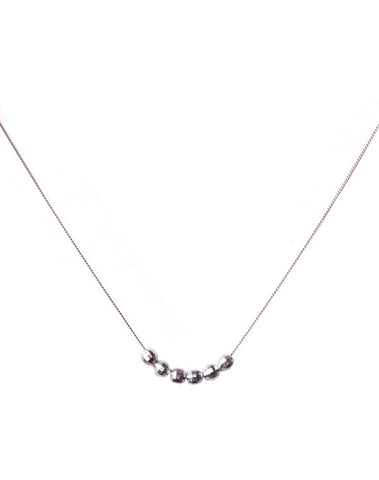 6-Silver Ball Necklace