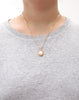Gold Ivory Pearl Owl Necklace