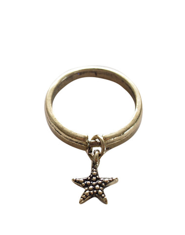 Drop star ring