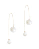 Orb Pearl Chain Earrings