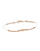 Four Gold Tube Bracelet