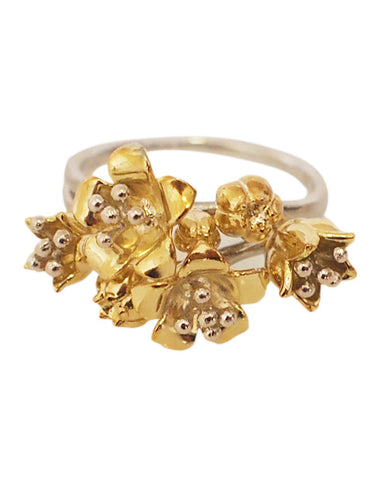 Baronia Bud Ring in Two Tone
