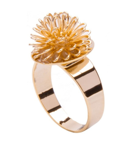 Gold Banksia Ring