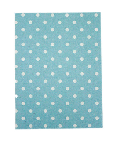 Large Pale Blue White Polkadot Print Chelsea Notebook