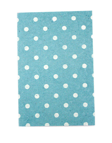 Small Pale Blue White Polkadot Print Chelsea Notebook