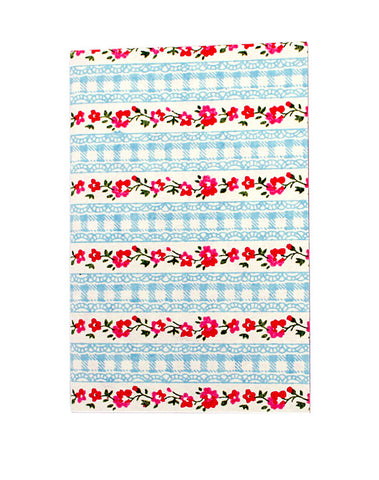 Small Floral and Pale Blue Lace Print Chelsea Notebook
