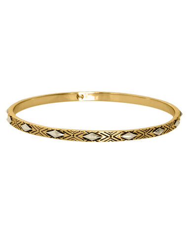 Gold Marquis Stack Bangle