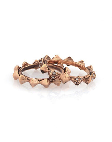 Thin Stacked Ring Rose Gold