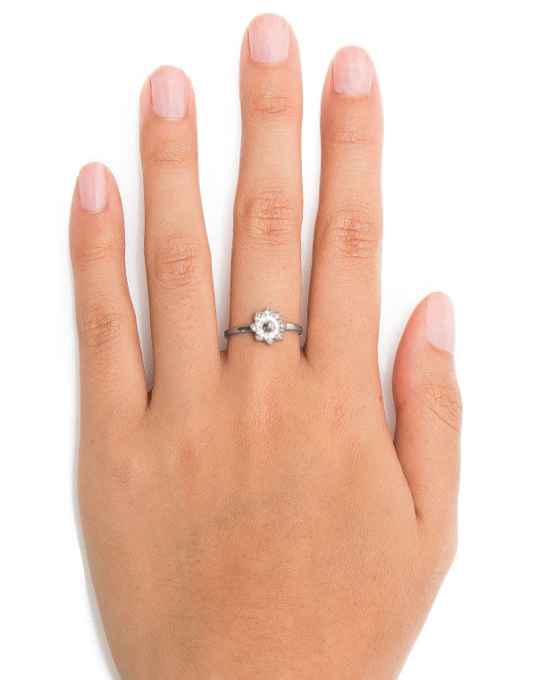 Protea Stacker Ring Silver