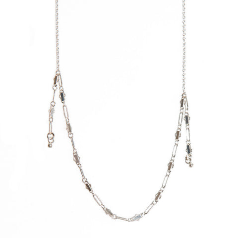 Silver Filigree Chain Necklace