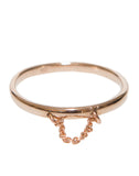 Rose Gold Chain drop ring