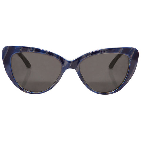 Capri Blue Wood Sunglasses