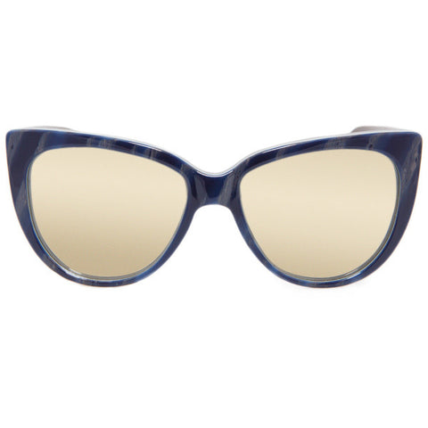 Moscow Blue Wood Mirror Sunglasses