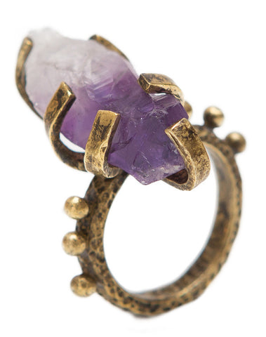 Amethyst Rocker ring