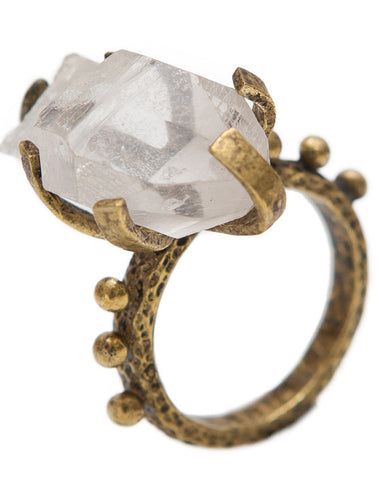 Quartz Rocker ring