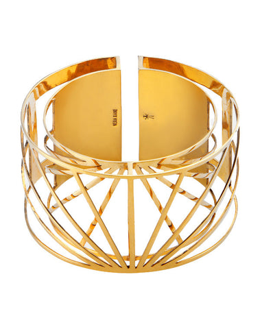 Gold Sunray Bangle