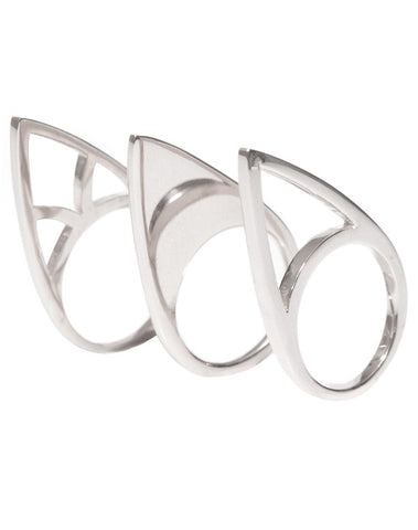 Silver Stack Ring Set