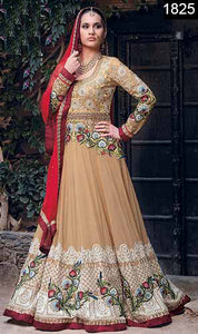 WYYH-1825-FULL EMBROIDERY Designer 3PC Chiffon Suit With Chiffon Dupatta - PARTY WEAR DRESS