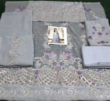 Load image into Gallery viewer, WYJB-1829-FULL EMBROIDERY Designer 3PC CHIFFON Suit With CHIFFON Dupatta - PARTY WEAR DRESS