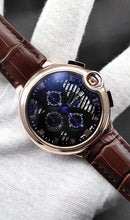 Load image into Gallery viewer, WAGW-0027 - MEN'S WRIST WATCH WITH LEATHER STRAPS